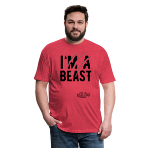 Beast Triblend T - heather red