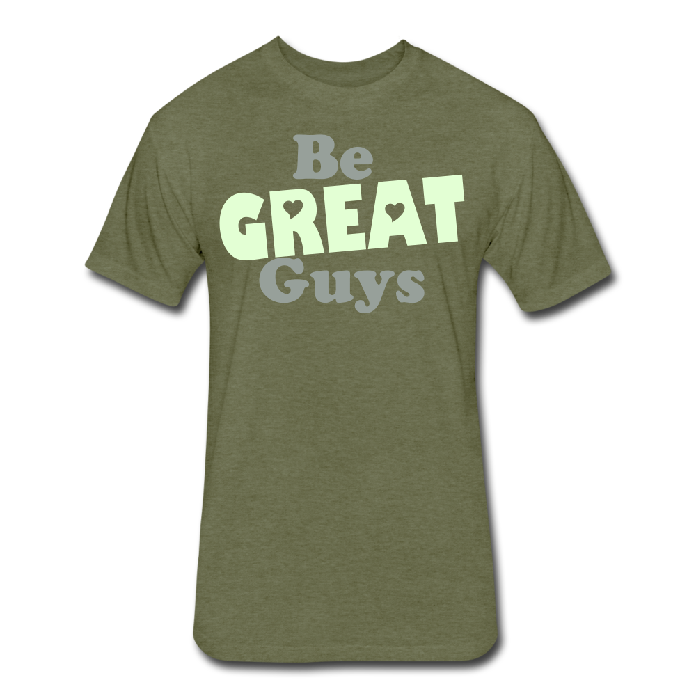 The Glow triblend T - heather military green