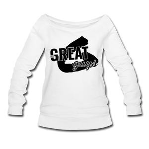 Greatness Wideneck Sweatshirt - white