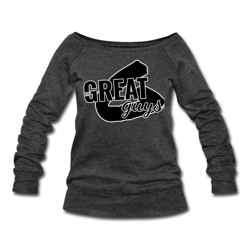 Greatness Wideneck Sweatshirt - heather black