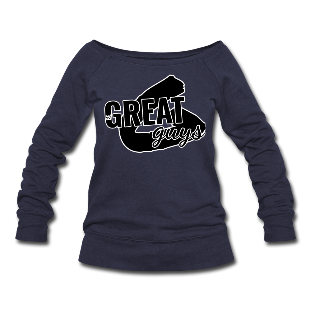 Greatness Wideneck Sweatshirt - melange navy
