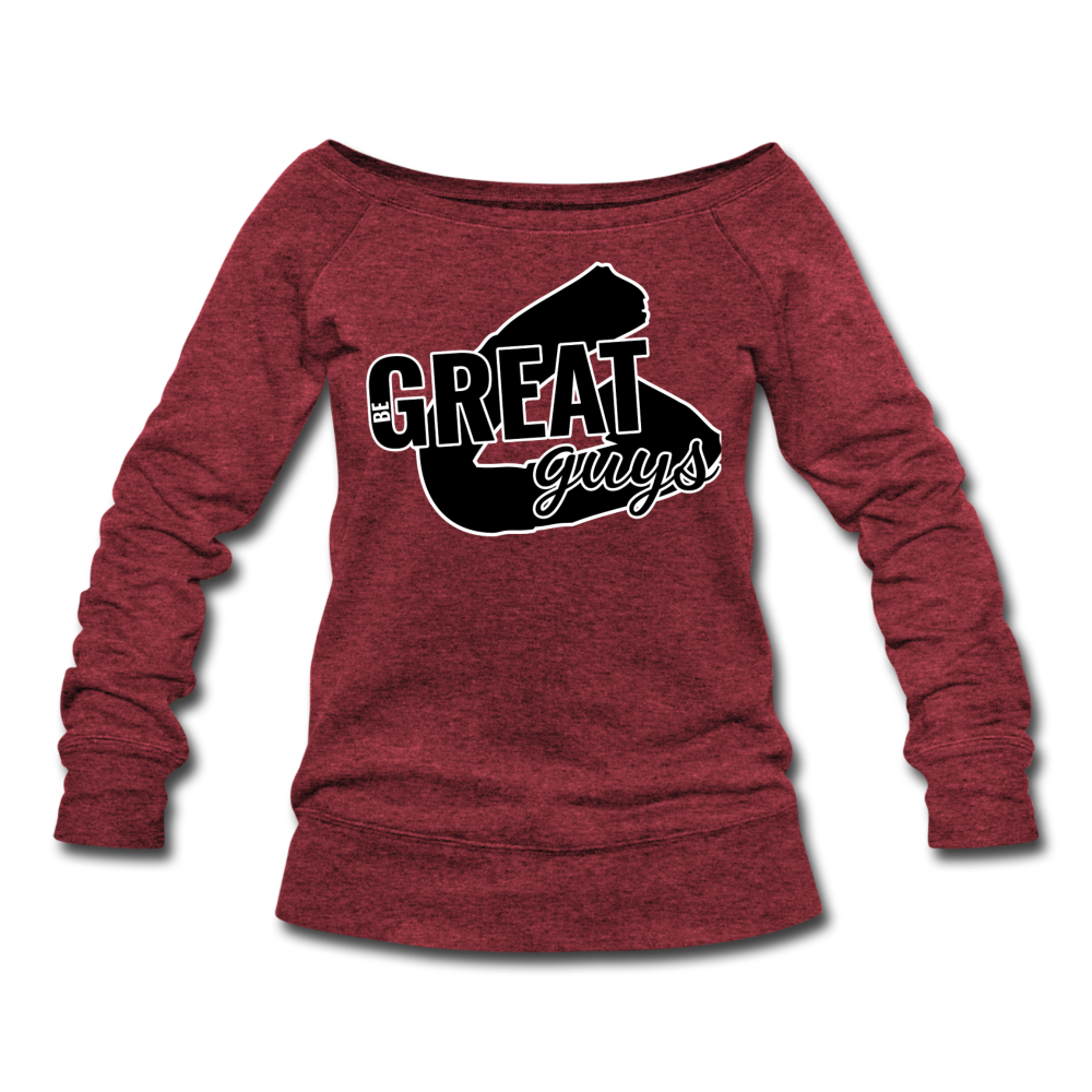 Greatness Wideneck Sweatshirt - cardinal triblend