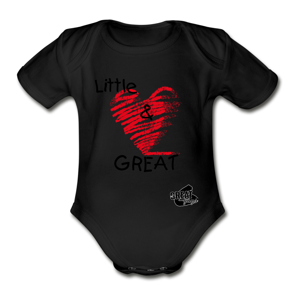 Little & GREAT Short Sleeve Baby Bodysuit - black