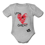 Little & GREAT Short Sleeve Baby Bodysuit - heather gray