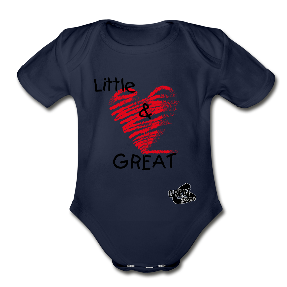 Little & GREAT Short Sleeve Baby Bodysuit - dark navy