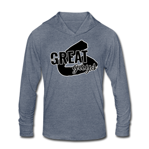 Unisex Tri-Blend Hoodie Shirt - heather blue