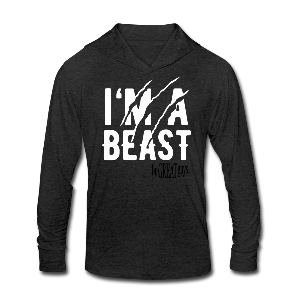 Beast Triblend T - heather black