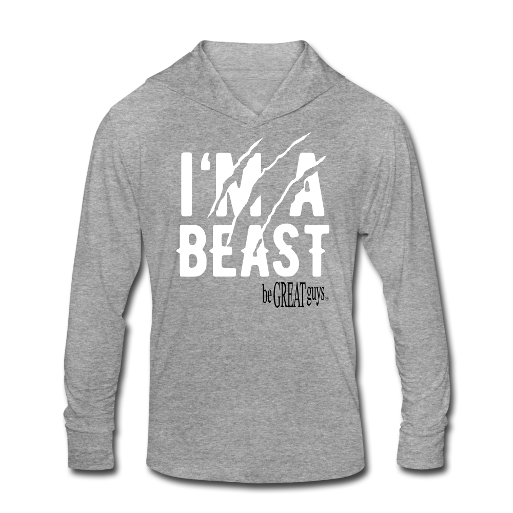 Beast Triblend T - heather gray