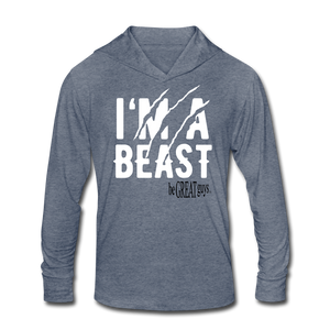 Beast Triblend T - heather blue