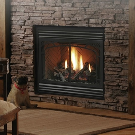 "Kingsman 4224 Zero Clearance Direct Vent Gas Fireplace ‐ 42"" Wide"