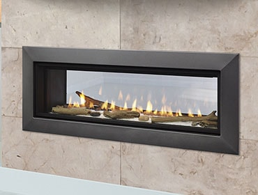 Majestic Echelon II 36ST Rev C See-Through Gas Fireplace - DV