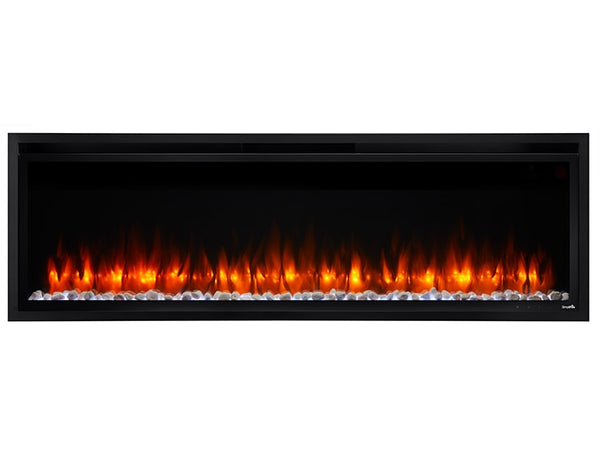 SimpliFire Allusion 40 Recessed linear electric fireplace