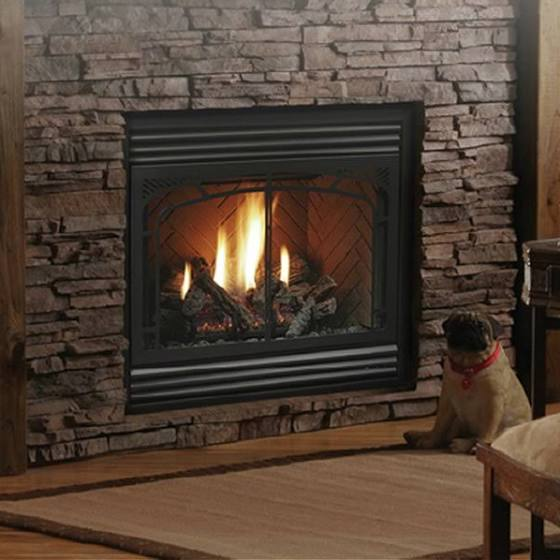 Kingsman Zero Clearance Direct Vent Gas Fireplace 36 Wide By 24
