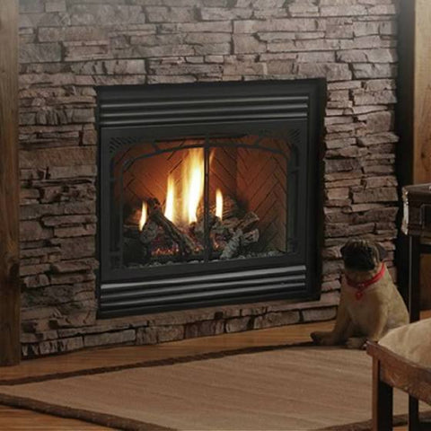 "Kingsman ZERO CLEARANCE DIRECT VENT GAS FIREPLACE ‐ 36"" WIDE BY 24"