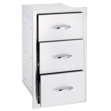 Summerset 17″ NORTH AMERICAN STAINLESS STEEL DOUBLE AND TRIPLE DRAWER