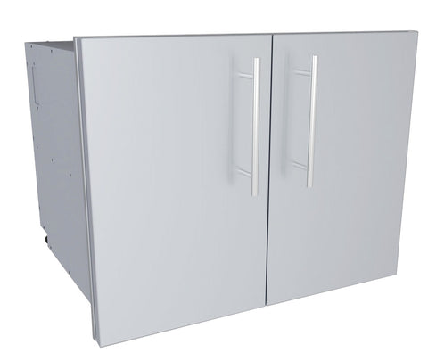 "Sunstone Designer Series 30""W Multi-Configurable Double Door Dry Storage Pantry w/Shelf & Utility Access"