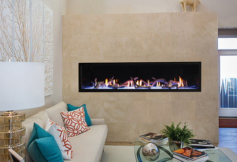 "American Hearth Boulevard 72"" Direct-vent Linear Fireplace"