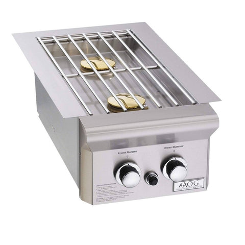 "AOG Built-In Double Side Burner 25,000 BTU's (""L"" Series)"