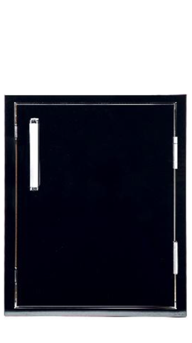 Bonfire Single Door Vertical 1420-Black