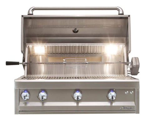 "Artisan Professional 36"" Built-In Grill, 3 Burner, Rotis"