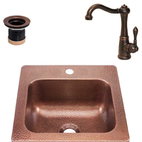 RCS COPPER DROP-IN BAR SINK 15 x 15