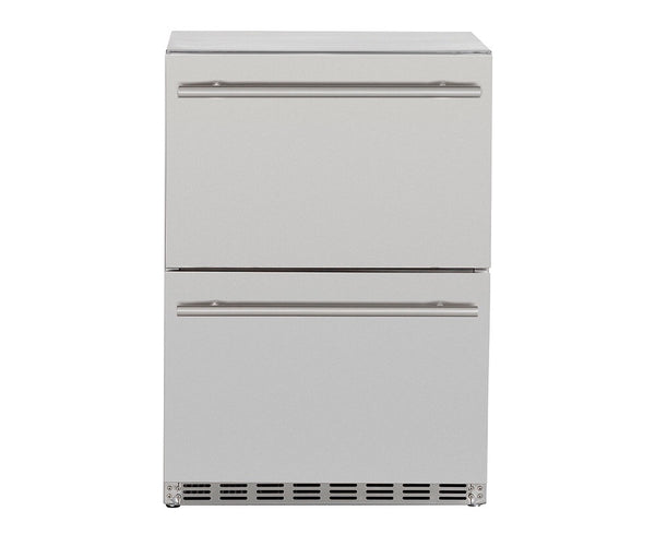 "Summerset 24"" 5.3c Deluxe Outdoor Rated 2-Drawer Refrigerator"