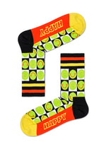 ATHLETIC HAPPY CHECK 3/4 CREW SOCK