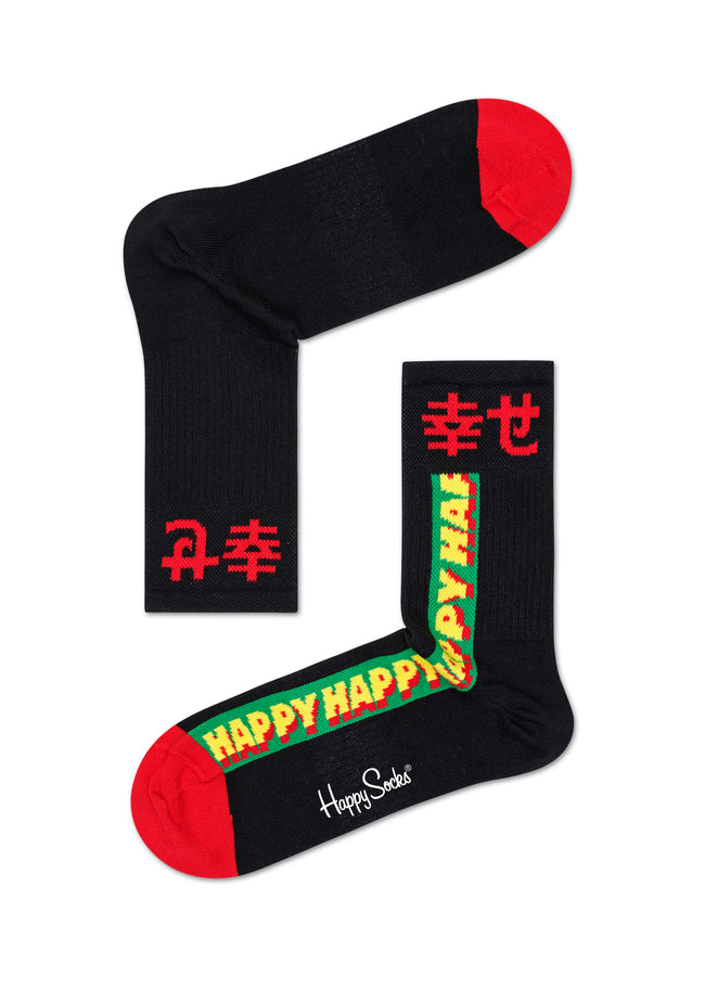 ATHLETIC HAPPY 3/4 CREW SOCK