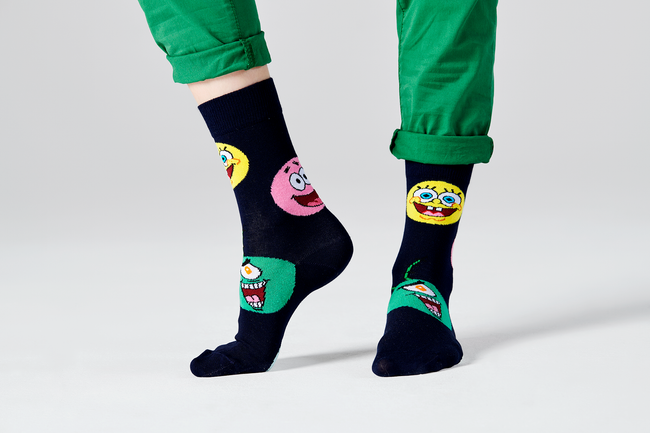 SPONGE BOB CIRCLE OF FRIENDS SOCK