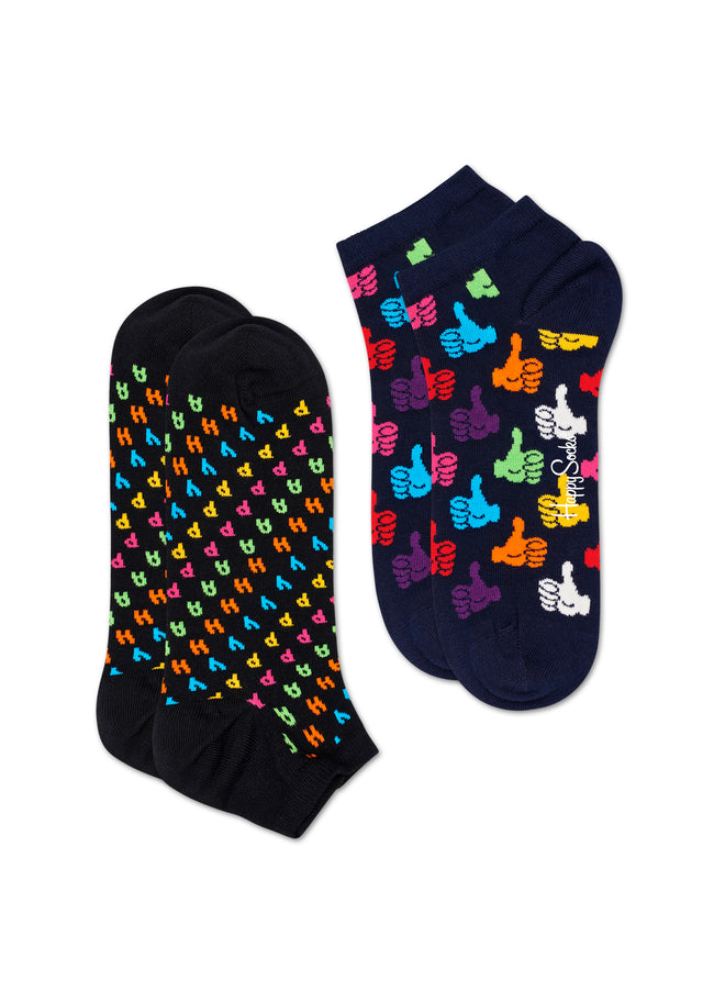 2-PACK HAPPY LOW SOCK