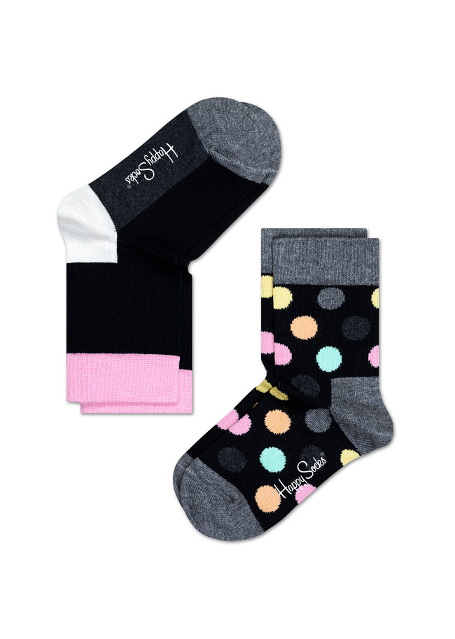 2-PACK BIG DOT SOCKS