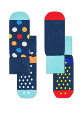 2-PACK BIG DOT ANTI-SLIP SOCKS