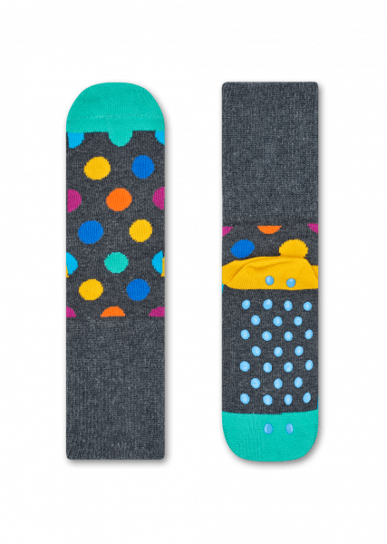 KIDS 2-PACK BIG DOT ANTI-SLIP SOCKS