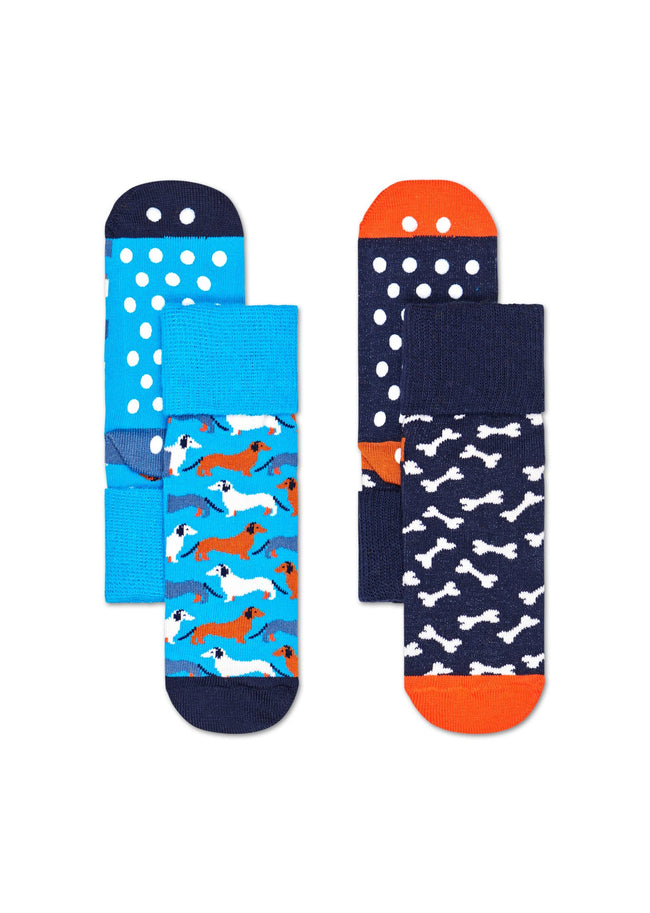2-PACK KIDS DOG ANTI-SLIP SOCKS