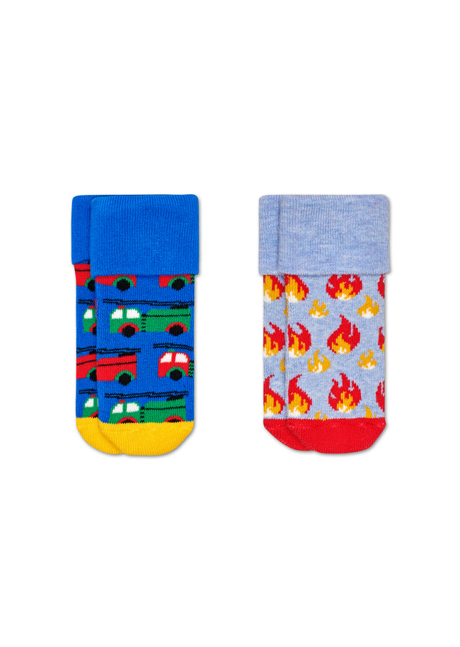 2-PACK ON FIRE TERRY SOCKS