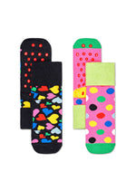 2-PACK KIDS HEART ANTI-SLIP SOCKS