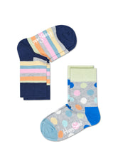 2- PACK STRIPE SOCKS
