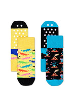 2-PACK DANGER ANTI-SLIP SOCKS