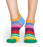 MULTI STRIPE LOW SOCK