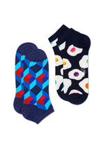 2-PACK OPTIC SQUARE LOW SOCK