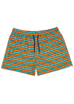 ROCK N ROLL STRIPE SWIM SHORTS