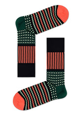 DRESSED SOCIAL STRIPES & SQUARES SOCK