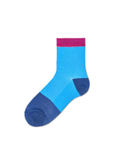 Janna Blue Ankle Sock