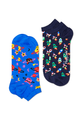 2-PACK SPACE CAT LOW SOCK