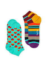 2-PACK SUNRISE DOT LOW SOCK