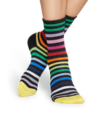 ATHLETIC STRIPED MID HIGH SOCK