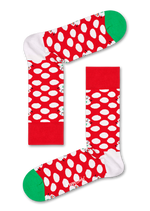 BIG DOT SNOWMAN SOCK