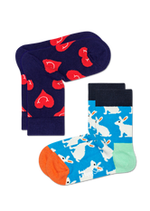 2-PACK SMILEY HEART SOCKS
