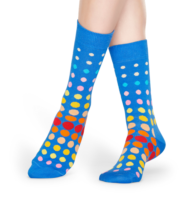 FADED DISCO DOT SOCK