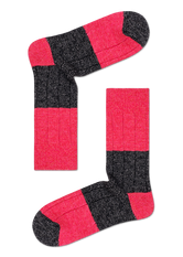 WOOL BLOCKED RIBB SOCK